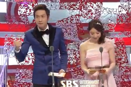 Gwang Soo presenting