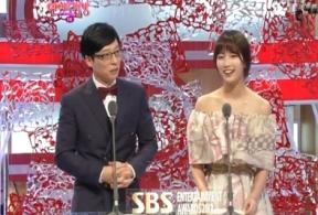 Yoo Jae Suk and Suzy