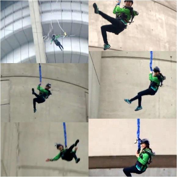 Ji Hyo flying