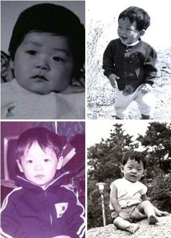 Yoo Jae Suk as baby