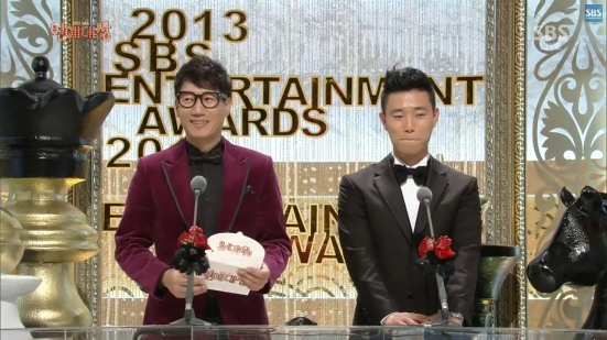 Gary and JI Suk Jin presenting