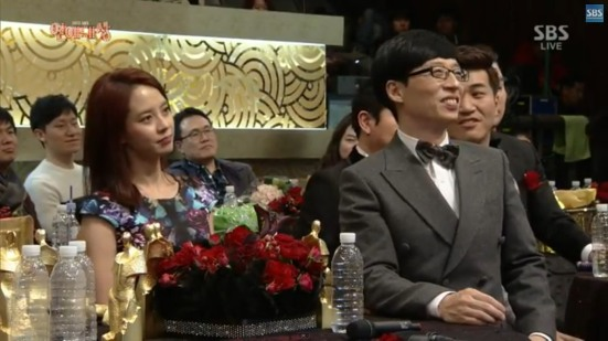 Ji Hyo and YJS during HaHa and KJK award