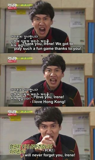 Kwang Soo says Thank you irene