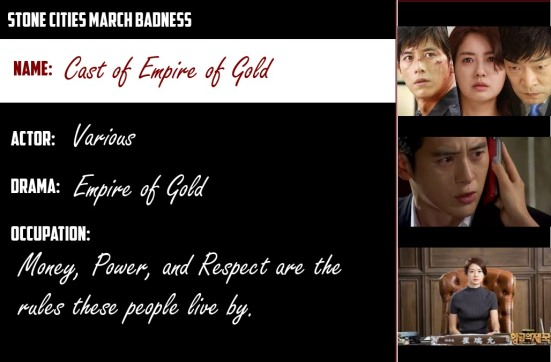Cast of Empire of Gold