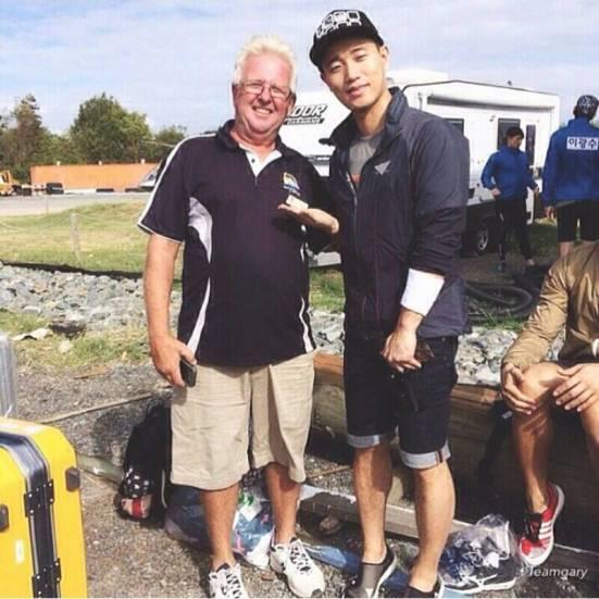 Gary and an australian