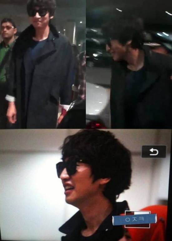 Kwang Soo touches down