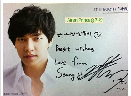Lee Seung Gi signed photo