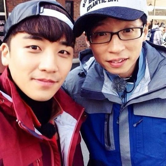 Seunggri and Yoo Jae Suk